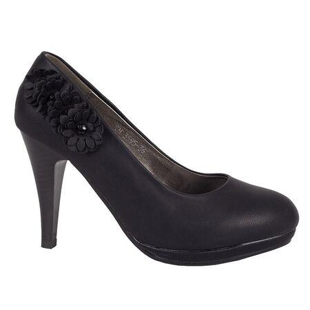 Pantofi dama cu toc negri TM3595-N, Marime: 36, imagine