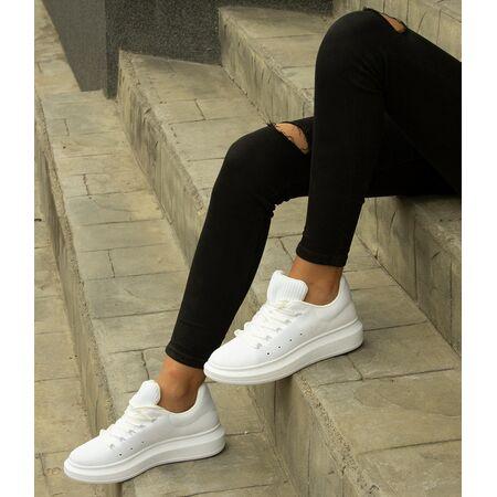 Pantofi de dama sport casual GG510-WHITE, Marime: 38, imagine