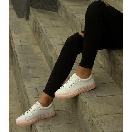 Pantofi de dama sport casual BO-532F-WHITE/PINK, Marime: 40, imagine