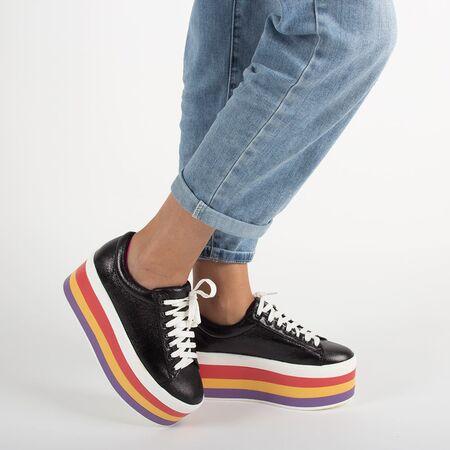 Sneakers dama cu platforma M7XX60547-1-BLACK, Marime: 40, imagine