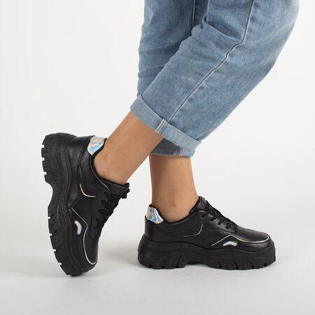 Sneakers dama cu platforma negri GL816-BLACK, Marime: 40, imagine