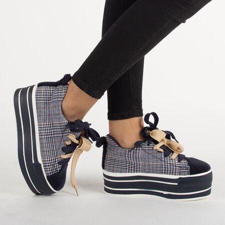 Sneakers dama cu platforma CD-2-NAVY, Marime: 40, imagine