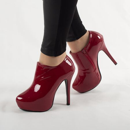 Botine dama cu platforma 82916RED-PT, Marime: 37, imagine