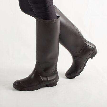 Cizme de dama pentru ploaie din cauciuc, maro,  H084-MAROON, Marime: 37, imagine