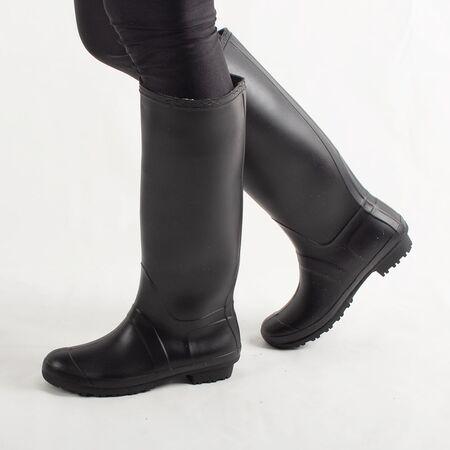 Cizme de dama negre din cauciuc pentru ploaie H084-NOIR, Marime: 38, imagine