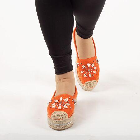 Espadrile de dama, portocalii, cu talpa joasa, comoda 00105-D.ORANGE, Marime: 36, imagine _ab__is.image_number.default