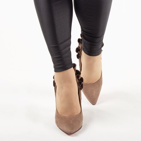 Pantofi de dama, kaki, eleganti cu toc inalt JM8128Y-KAKI, Marime: 35*, imagine _ab__is.image_number.default