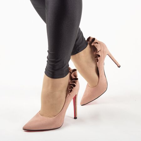 Pantofi de dama, roz, eleganti cu toc inalt JM8128Y-ROSA, Marime: 35*, imagine