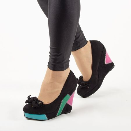 Pantofi de dama, negri cu talpa ortopedica si funda GH008-BLACK, Marime: 36, imagine