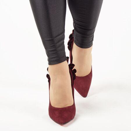 Pantofi de dama, bordo, eleganti cu toc inalt JM8128Y-BURDEO, Marime: 35, imagine _ab__is.image_number.default