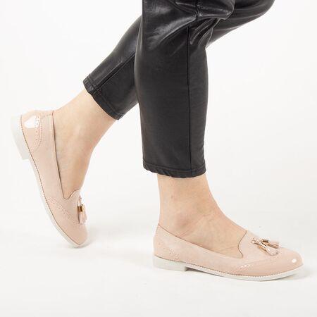 Pantofi de dama, bej, cu talpa joasa si comoda AB620-BEIGE, Marime: 36*, imagine _ab__is.image_number.default