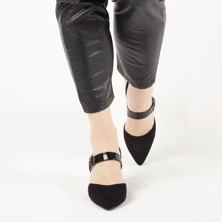 Sandale de dama, negre, cu toc gros si barete F-63-BLACK, Marime: 35*, imagine _ab__is.image_number.default