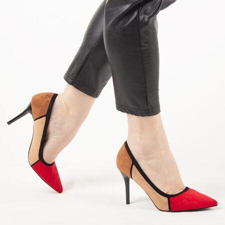 Pantofi de dama, multicolori, cu toc inalt, stiletto H369-RED, Marime: 35*, imagine _ab__is.image_number.default