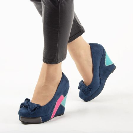 Pantofi de dama, bleumarin cu talpa ortopedica si funda GH008-NAVY, Marime: 35*, imagine