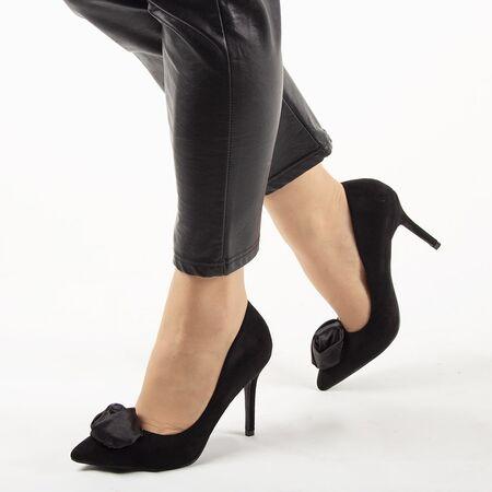 Pantofi de dama, negri, cu toc inalt, stiletto JM-W717W-NEGRO, Marime: 35, imagine