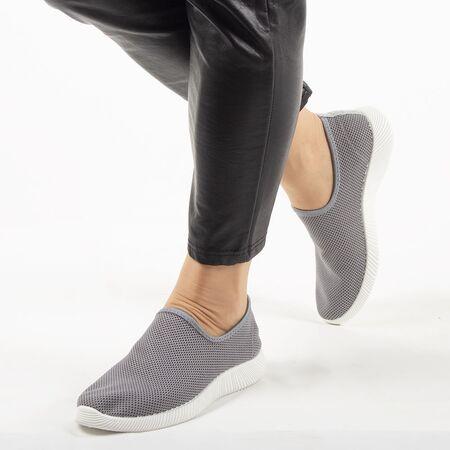 Sneakers dama din material textil, talpa usoara si comoda MD8816-GREY, Marime: 36, imagine