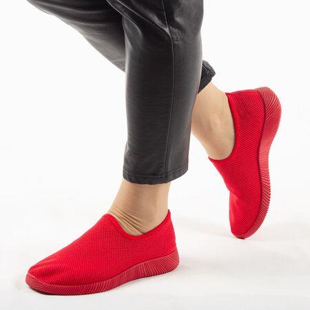 Sneakers dama din material textil, talpa usoara si comoda MD8816-RED, Marime: 37, imagine