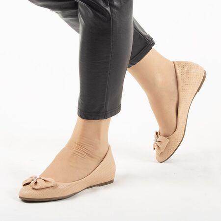 Pantofi de dama, bej, cu talpa joasa si comoda 1199-BEIGE, Marime: 36*, imagine