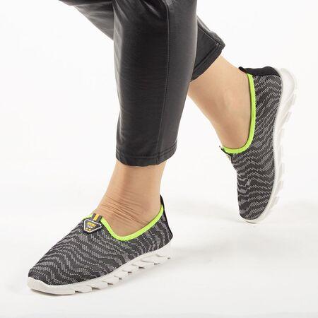 Sneakers dama din material textil, talpa usoara si comoda SNE-01-GRI, Marime: 35, imagine