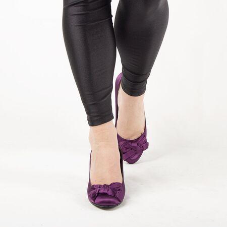 Pantofi de dama cu funda A1103PURPLE, Marime: 38, imagine _ab__is.image_number.default