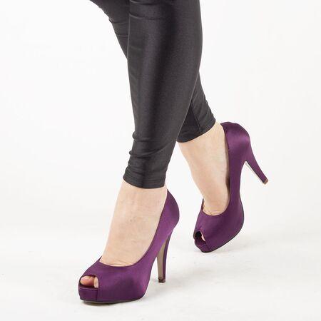 Pantofi de dama eleganti A1265-PURPLE, Marime: 36, imagine