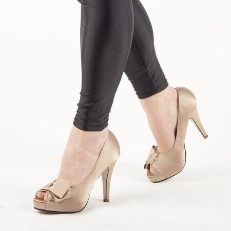 Pantofi de dama eleganti A1267-BEIGE, Marime: 38, imagine