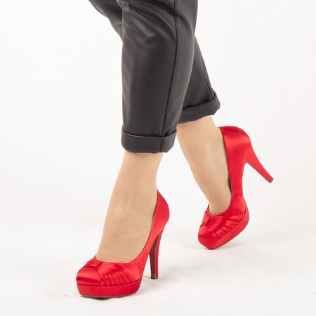 Pantofi de dama eleganti A01-6-RED, Marime: 38, imagine