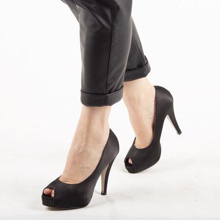 Pantofi de dama eleganti A1265-BLACK, Marime: 40, imagine