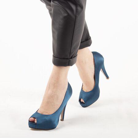 Pantofi de dama eleganti A1265-BLUE, Marime: 37, imagine