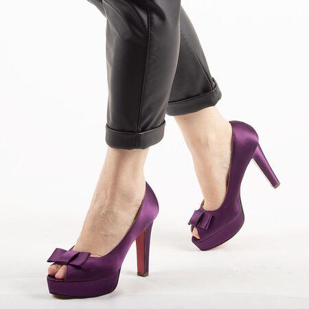Pantofi de dama eleganti A03-2-PURPLE, Marime: 39, imagine