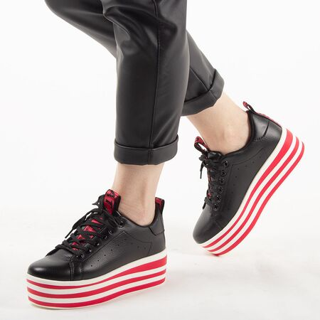 Sneakers dama cu platforma AB-519-BLACK, Marime: 38, imagine