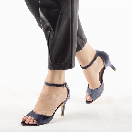 Sandale dama cu toc elegante gri 8T8555-111-G, Marime: 37, imagine