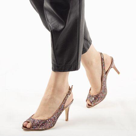 Sandale de dama elegante bronz 8T8555-19-B, Marime: 36, imagine