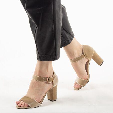 Sandale dama bej 10G201-6SG-B, Marime: 35, imagine