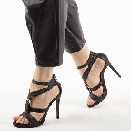 Sandale de dama negre 7W1688-10A-N, Marime: 37, imagine