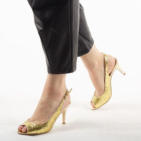 Sandale dama de ocazie aurii 8T8555-19-G, Marime: 36, imagine