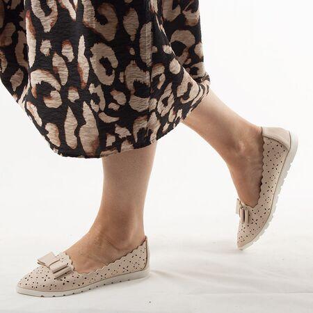 Pantofi de dama, cu talpa joasa, nude LM95A-NUDE, Marime: 36*, imagine