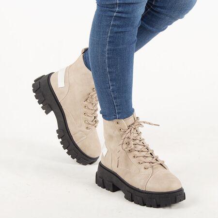 Bocanci de dama, kaki, cu siret SD0053-W7-KHAKI, Marime: 36, imagine